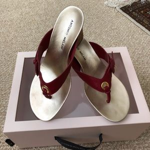 Gorgeous Antonio Melani red sandals